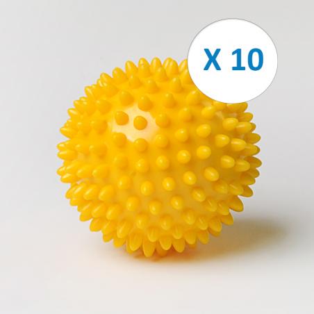 Pack 10 balles picot Ø 7 cm
