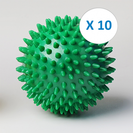 Pack 10 balles picot Ø 9 cm