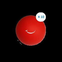 """Pack """"10 balles souples rouge"""""""